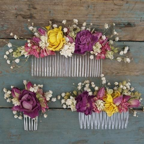 fresh flower combs - Google Search