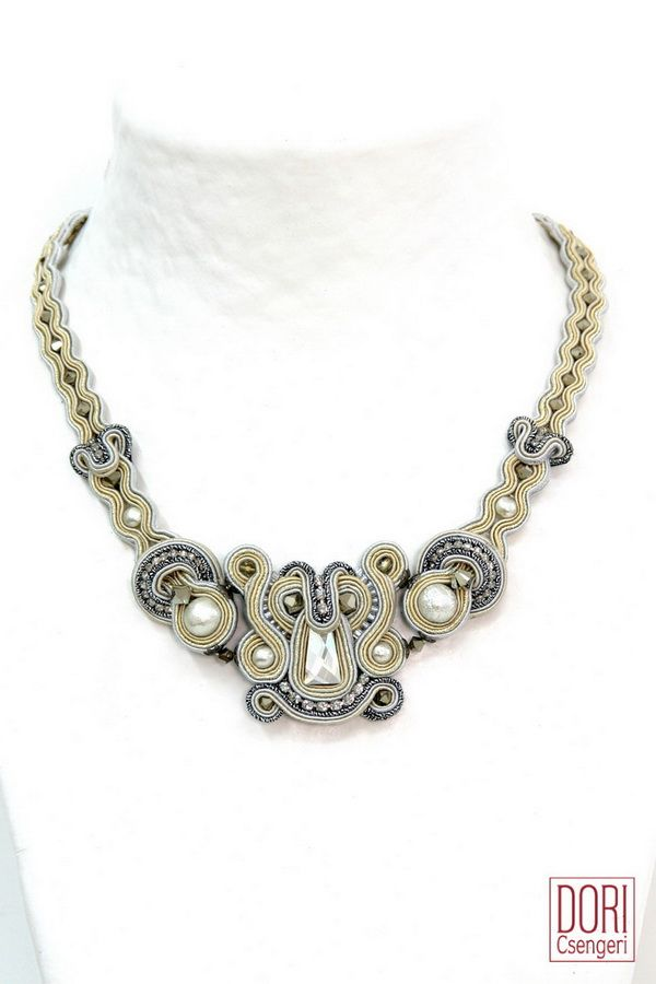 CAL-N532 , off white necklaces , silver necklaces , bridal necklaces , calista , caln532 ,