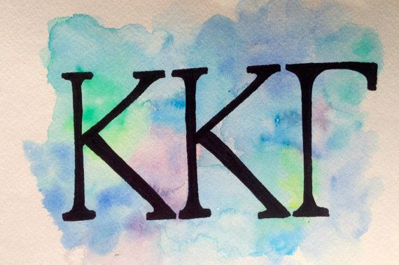 Show off your sorority pride with this one of a kind sorority letters painting! Painted on high end watercolor paper, each one is unique and