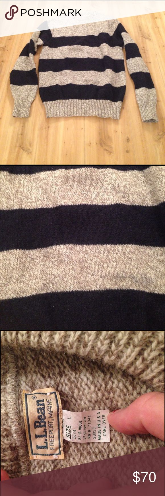 Was $70 L.L Bean Wool Sweater Mens Large wool sweater great condition L.L. Bean Sweaters