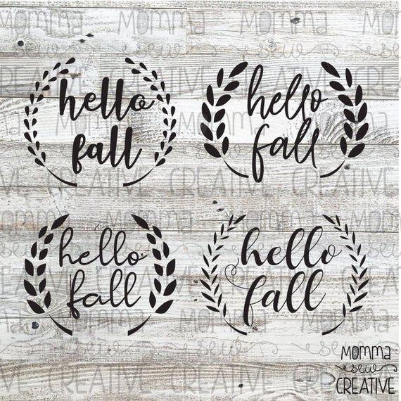 hello fall wheat ear vector pack Hello autumn, Vector