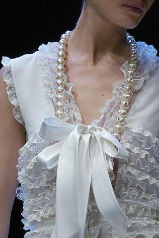 valentino fall 2005 - white dress