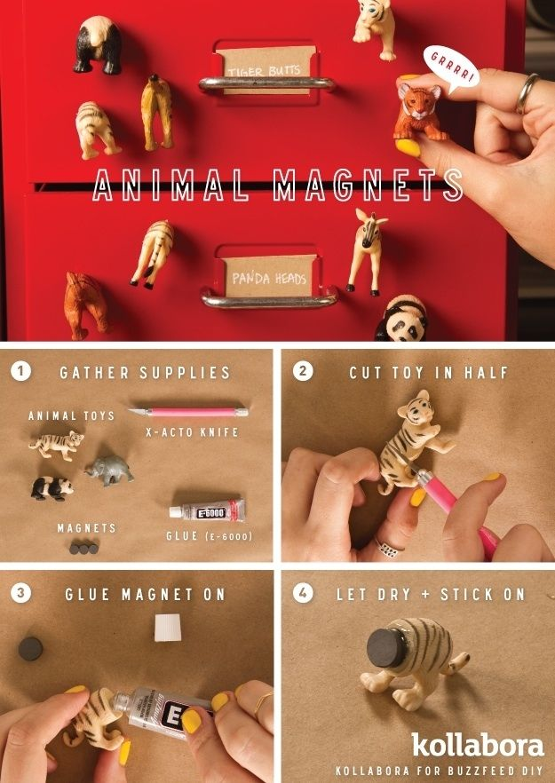 Animal Magnets | 10 Incredibly Cute DIY Projects Inspired By Animals