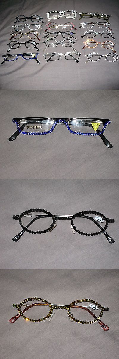 Reading Glasses: Swarovski Crystal Jeweled Reading Glasses Bling Wire Frames +1.25 New! -> BUY IT NOW ONLY: $34.65 on eBay!