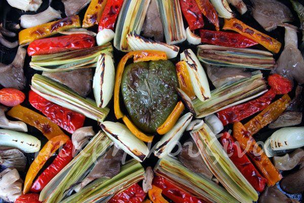 μικρή κουζίνα: Γιορτινή σαλάτα Χριστουγέννων με ψητά λαχανικά