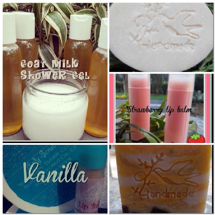 butter, scrub, shower gel, lip balm and cp soap :)