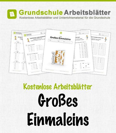 Kostenlose Arbeitsblätter und Unterrichtsmaterial zum Thema Großes Einmaleins im Mathe-Unterricht in der Grundschule.