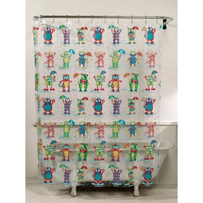 alex moody monster vinyl shower curtain cute bold bathrooms pinterest vinyls curtains. Black Bedroom Furniture Sets. Home Design Ideas