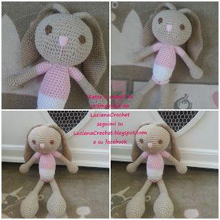 Luciana Crochet - fatto a mano: Non c'era ancora una Coniglietta in questo zoo-ami...