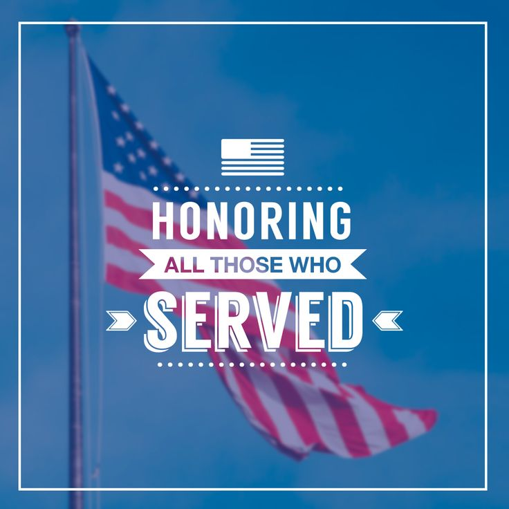 HERE'S TO OUR HEROES, past and present, who have bravely served our country. Happy Veterans Day!