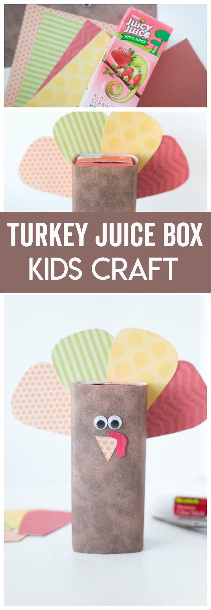 Turkey Juice Box Kids Craft Made