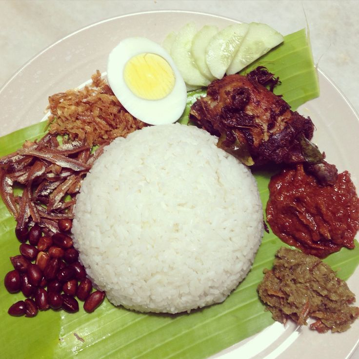 Authentic nasi lemak