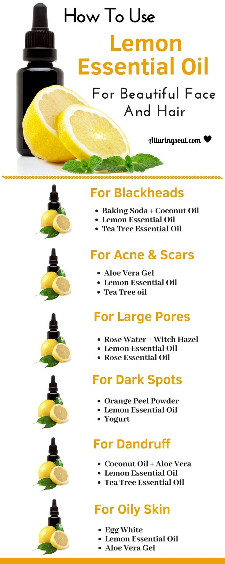 10 Benefits and Uses Of Lemon Essential Oil For Skin & Hair