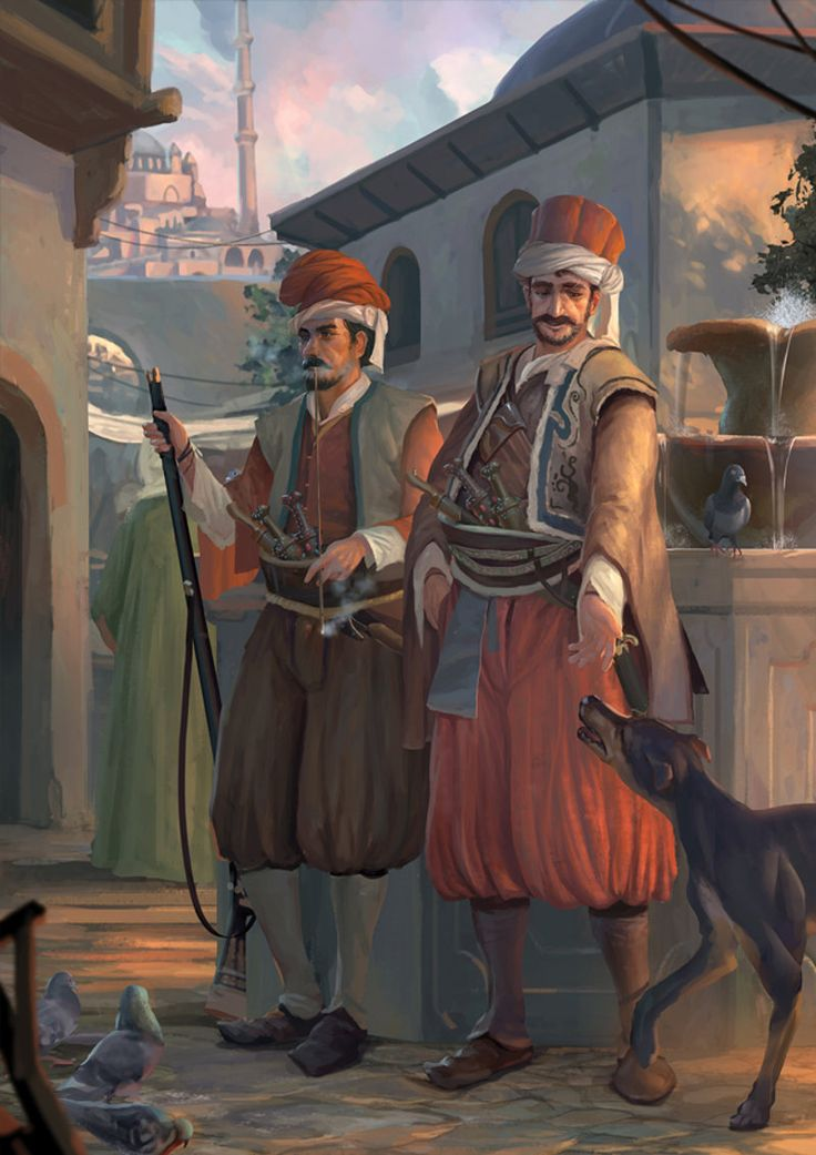 Ottoman guards in Istanbul