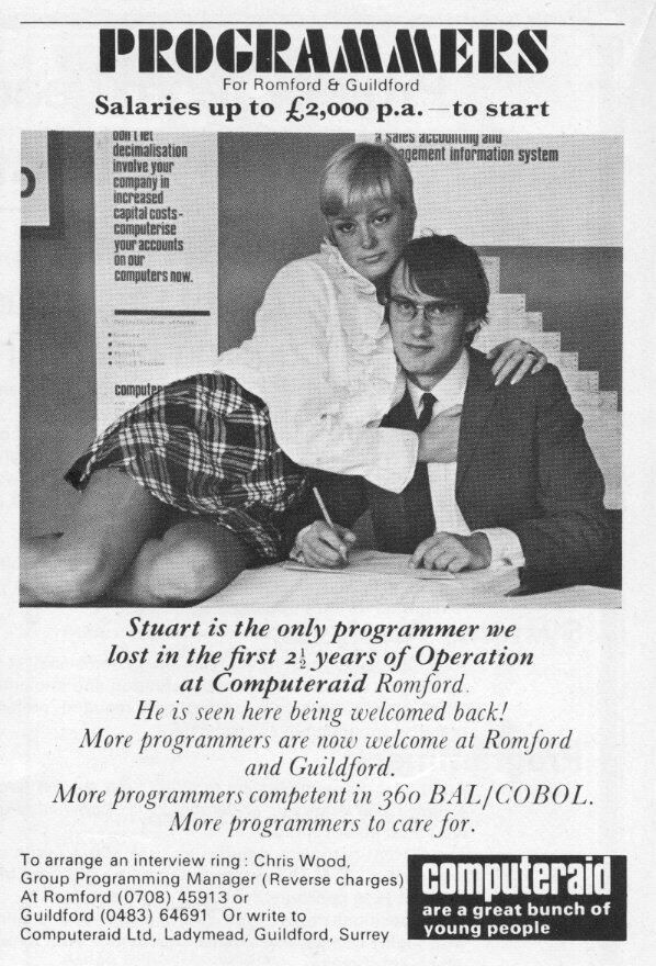 Twitter / computermuseum: We scanned this from a computing magazine from 1970. You don't see adverts like this anymore!