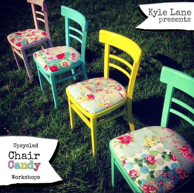 upcycled chair candy workshop