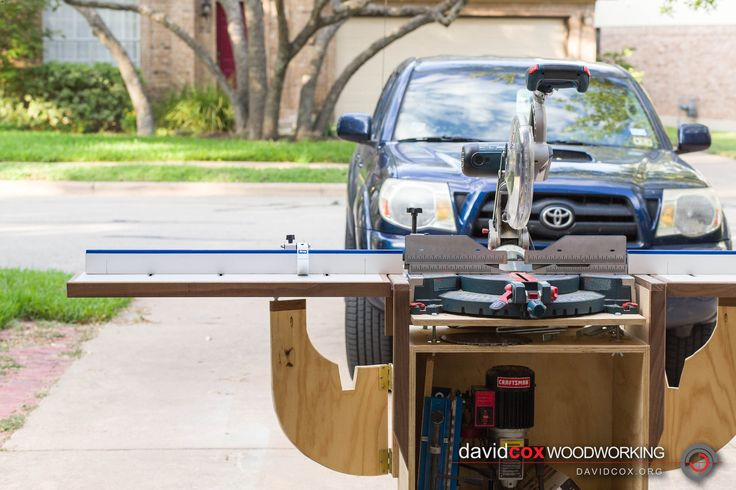 Front View of Rolling Chop Saw Stand for Bosch 12