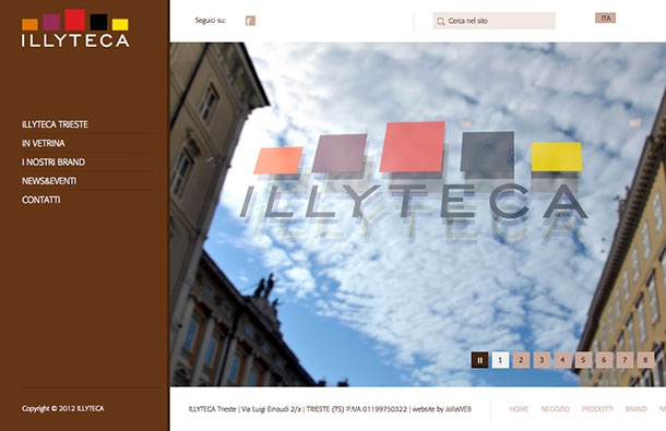 ILLYTECA Trieste | Concept Store by Illy.  Website by JollaWEB