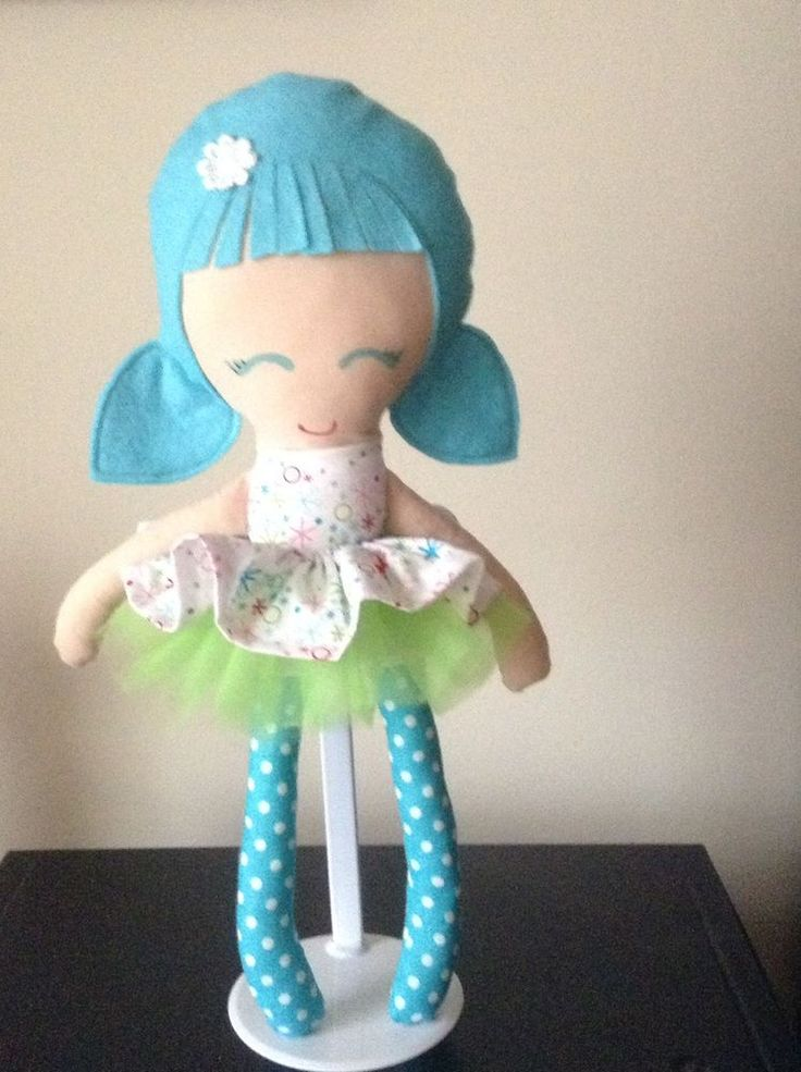 Handmade doll Turquoise and multi colour snowflake dress with Tutu skirt