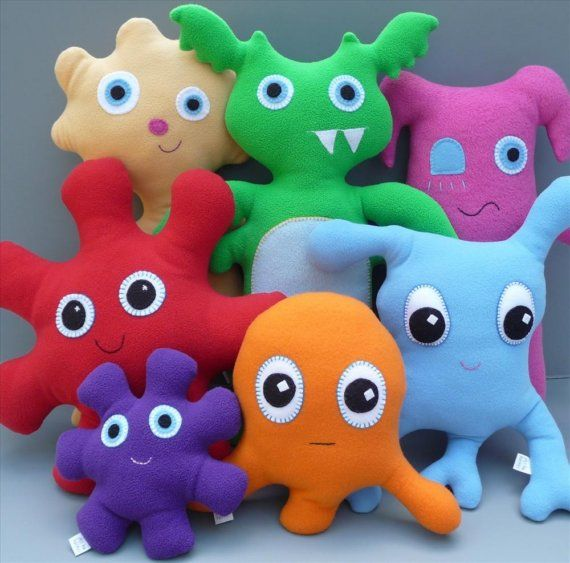 Custom Medium Snuggle Monster Stuffed Animal by chasingmystar