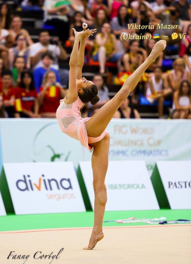Viktoria MAZUR (Ukraine) ~ Clubs  @ World Challenge Cup Guadalajara-Spain 02-04/06/'17  Photographer Fanny Cortyl.