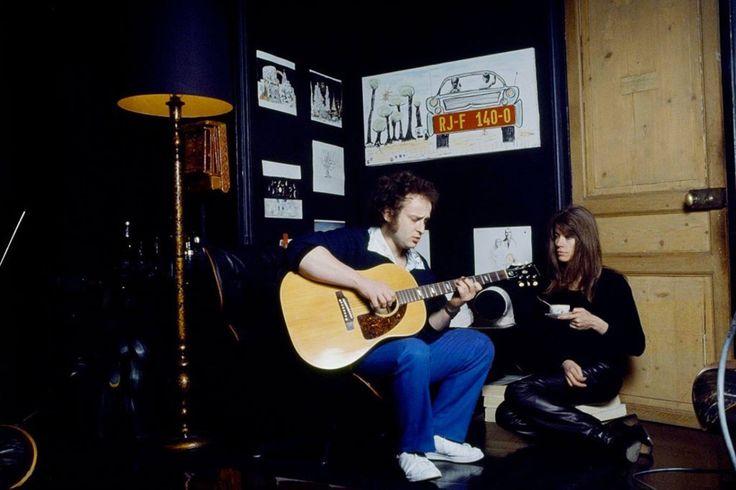 Françoise Hardy and Michel Jonasz photographed by Tony Frank in January 16, 1979