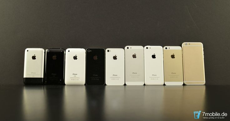 Mockup vom iPhone 6 im Vergleich mit den Vorgängermodellen