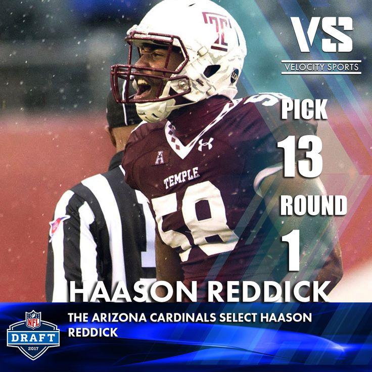 The Arizona Cardinals select Haason Reddick .. .. .. #DraftDay #NFL #NFLdraft #NFLdraft2017 #football #sports #Cardinals #velocitysports #ArizonaCardinals #Arizona