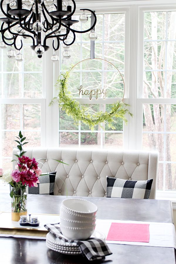How to Make a Floral Hoop Wreath   Less Than Perfect Life of Bliss   home, diy, travel, parties, family, faith