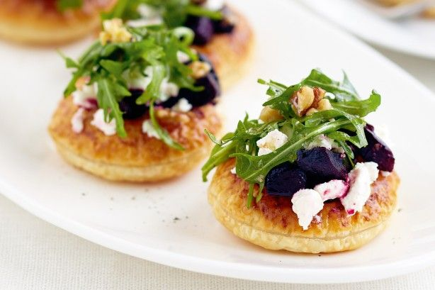 Caramelised beetroot and goat's cheese tarts