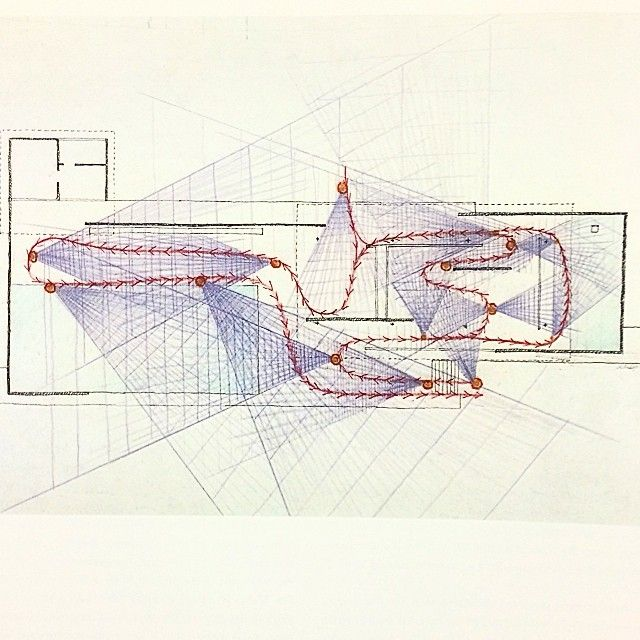 Paul Rudolph  Drawing Of The Barcelona Pavilion  1986