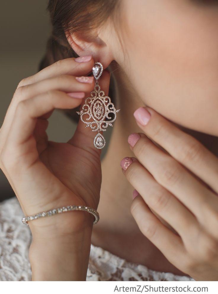 Brautschmuck Ohrringe für russische Hochzeiten