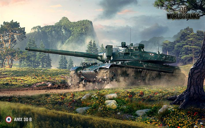 Hämta bilder AMX 30 B, World of Tanks, WoT, tankar