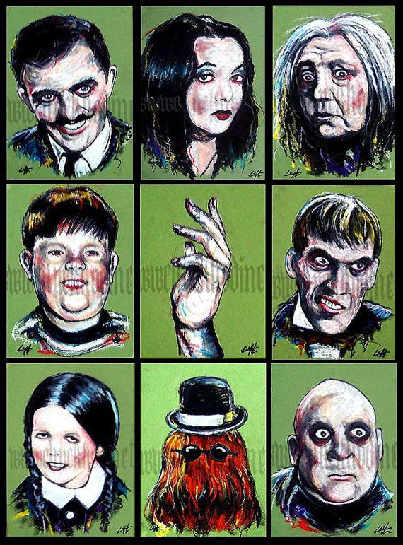 Prints 5x7  The Addams Family  Halloween Horror Dark by chuckhodi, $45.00