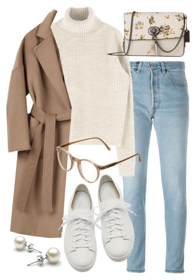 """""""Untitled #21770"""" by florencia95 ❤ liked on Polyvore featuring RE/DONE, Coach, Santoni and Cutler and Gross"""