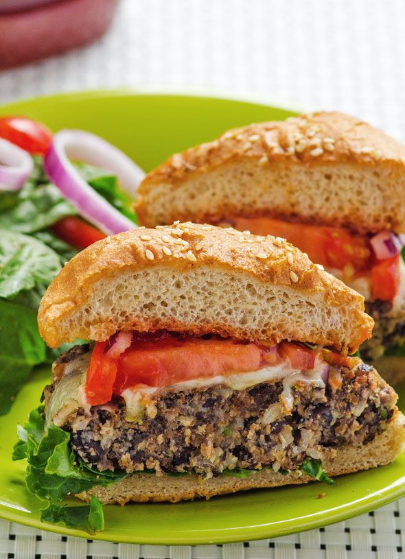 Black Bean Zucchini Burger Recipe -- Meatiest, juiciest and tastiest veggie burger ever with black beans, brown rice and zucchini. | ifoodreal.com