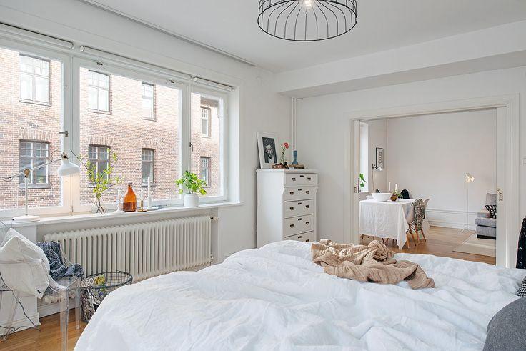 шведский дизайн интерьера спальни