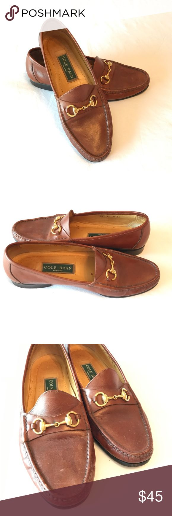 COLE HAAN Leather Snaffle Bit Loafers The one thing all men can agree on - you just can't go wrong with Cole Haan shoes! As comfortable as they are stylish, these shoes are in exceptional condition and ready to be the finishing touch for your favorite business attire. Cole Haan Shoes Loafers & Slip-Ons