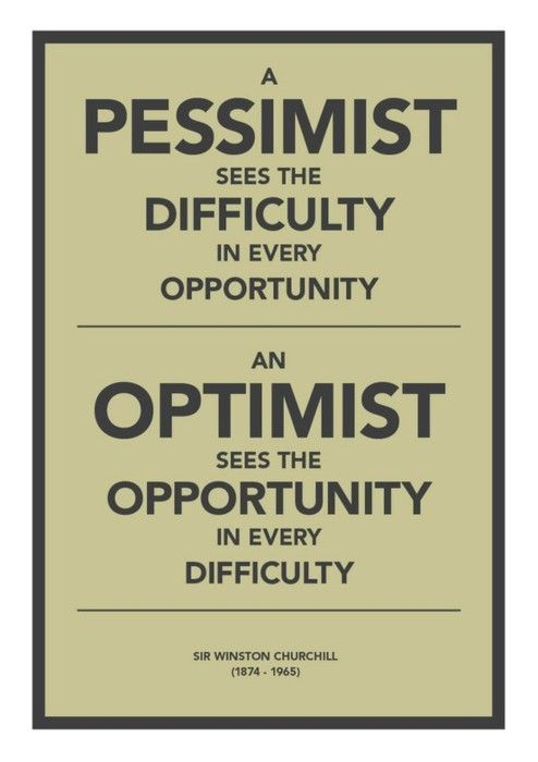 Optimists are fun to be around and you feel energized after being with them. Pessimists are draining, depressing and they often ruminate when they just need to chill. staying positive, positivity #positivity