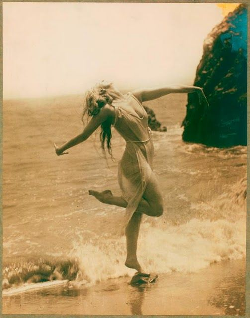 This is how I feel at the beach as well....    Ruth St. Denis (January 20, 1879  July 21, 1968) was an early modern dance pioneer.