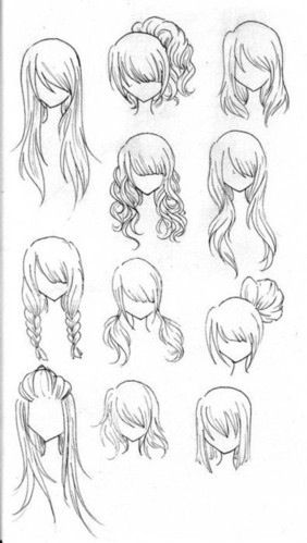 Animated Women's Hair Styles