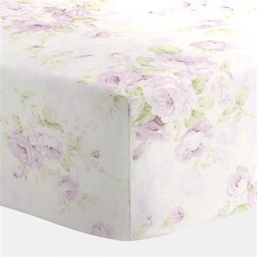 Lavender Floral Crib Sheet | Carousel Designs