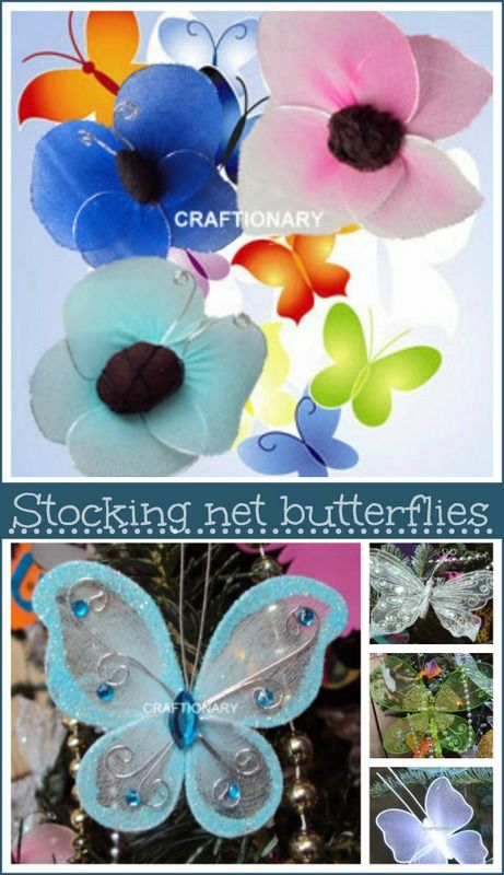 Afraid, crafting butterfly from pantyhose