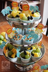 Perfect I Like The Small Cups. We Could Add Our Own Toppers. Find This Pin And More  On Animal Themed Baby Shower ...