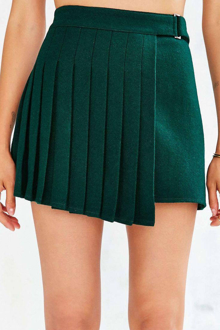 J.O.A. Overlap Pleated Skirt