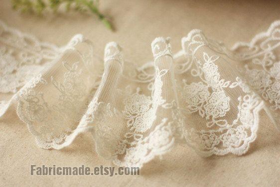 Off White Lace Trim pizzo di cotone pizzo nozze di fabricmade