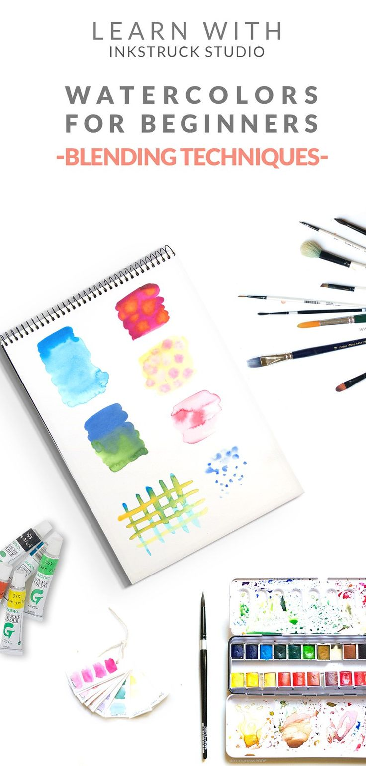 Watercolor for beginners // Blending Techniques