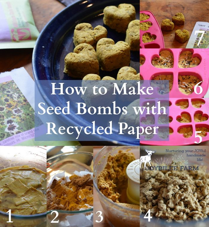 How to make seed bombs Whether you are guerilla gardening or gardening with children, these seed bombs made from recycled paper will inspire your imagination. Seed bombs and seed paper can be made into creative gifts, party favours, or an inspiring nature activity for students. While these instructions turn your recycled paper into a 3 …