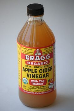 2 Tablespoons organic apple cider vinegar,   a teaspoon of pure lemon juice, touch of honey (optional), 12 ounces of water.   Drink everyday to clear acne, promote digestion, help sinus infections/sore   throats, etc.