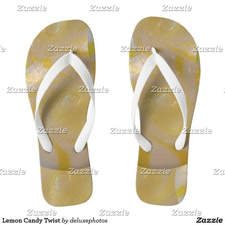Lemon Candy Twist Flip Flops